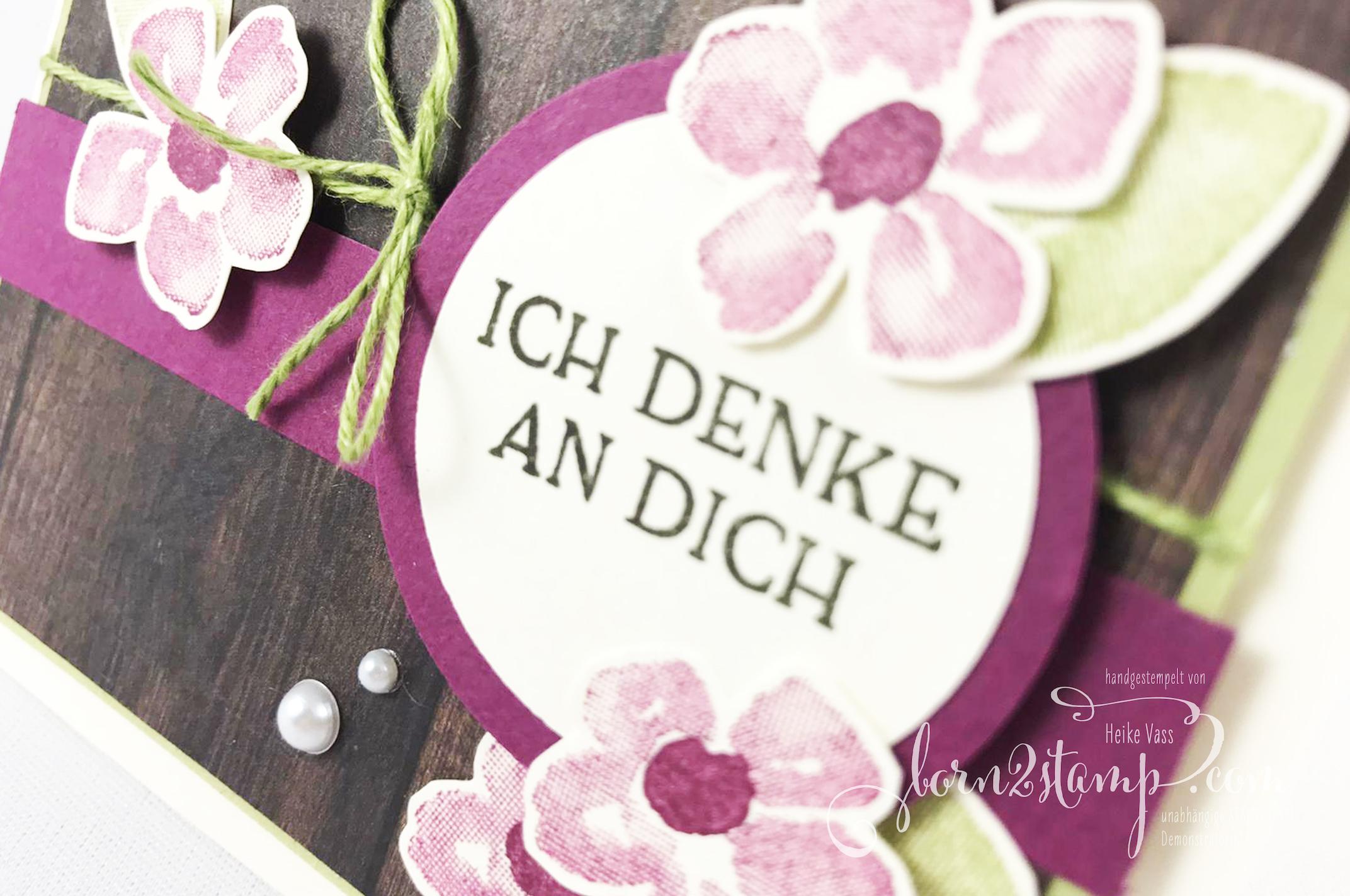 born2stamp INKSPIRE me STAMPIN UP Karte DSP Ganz mein Geschmack – Blumengruss