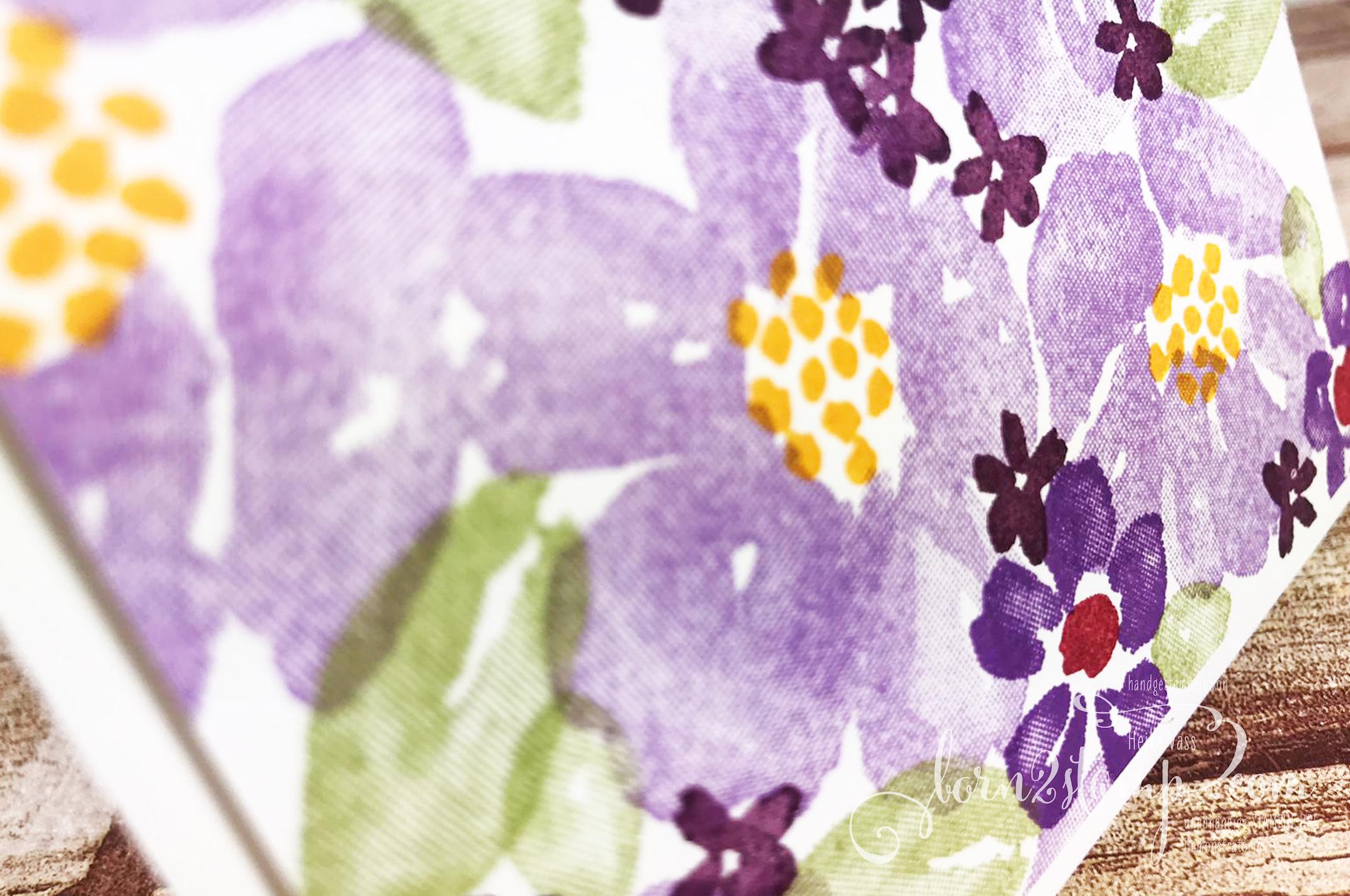 born2stamp Stempelnd durchs Jahr Stampin UP Dankeskarte – Blumengruss