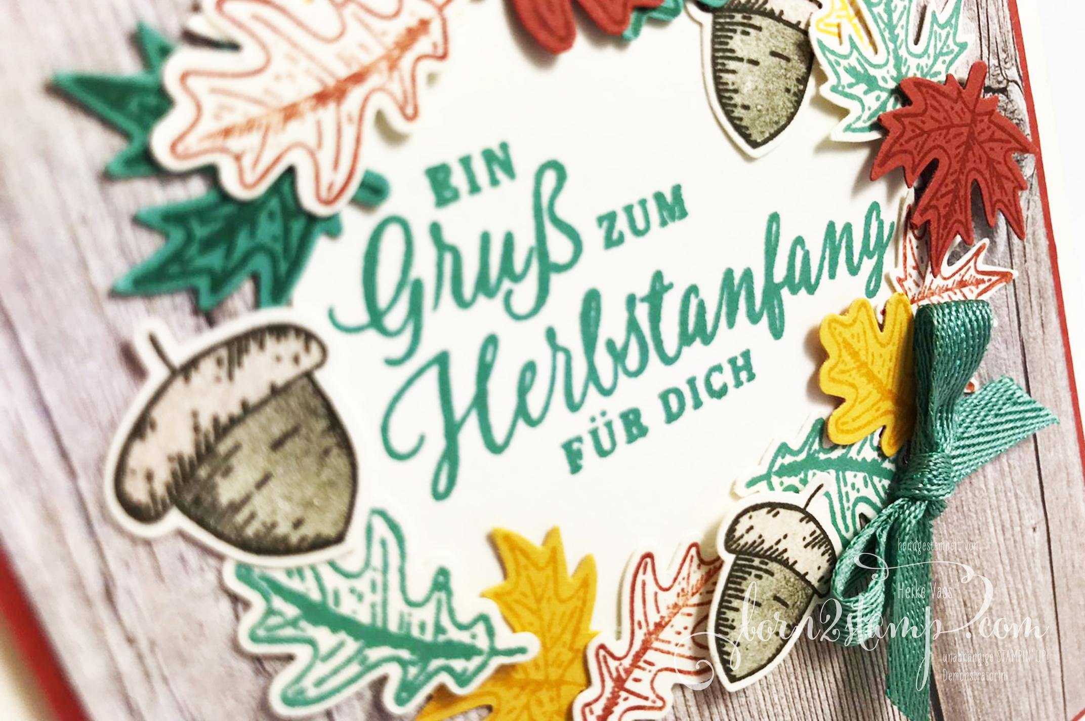 born2stamp STAMPIN UP Stempelnd durchs Jahr DSP Ganz mein Geschmack – Schöner Herbst – Stanzenpaket Herbst – Geschenkband InColor Aventurin