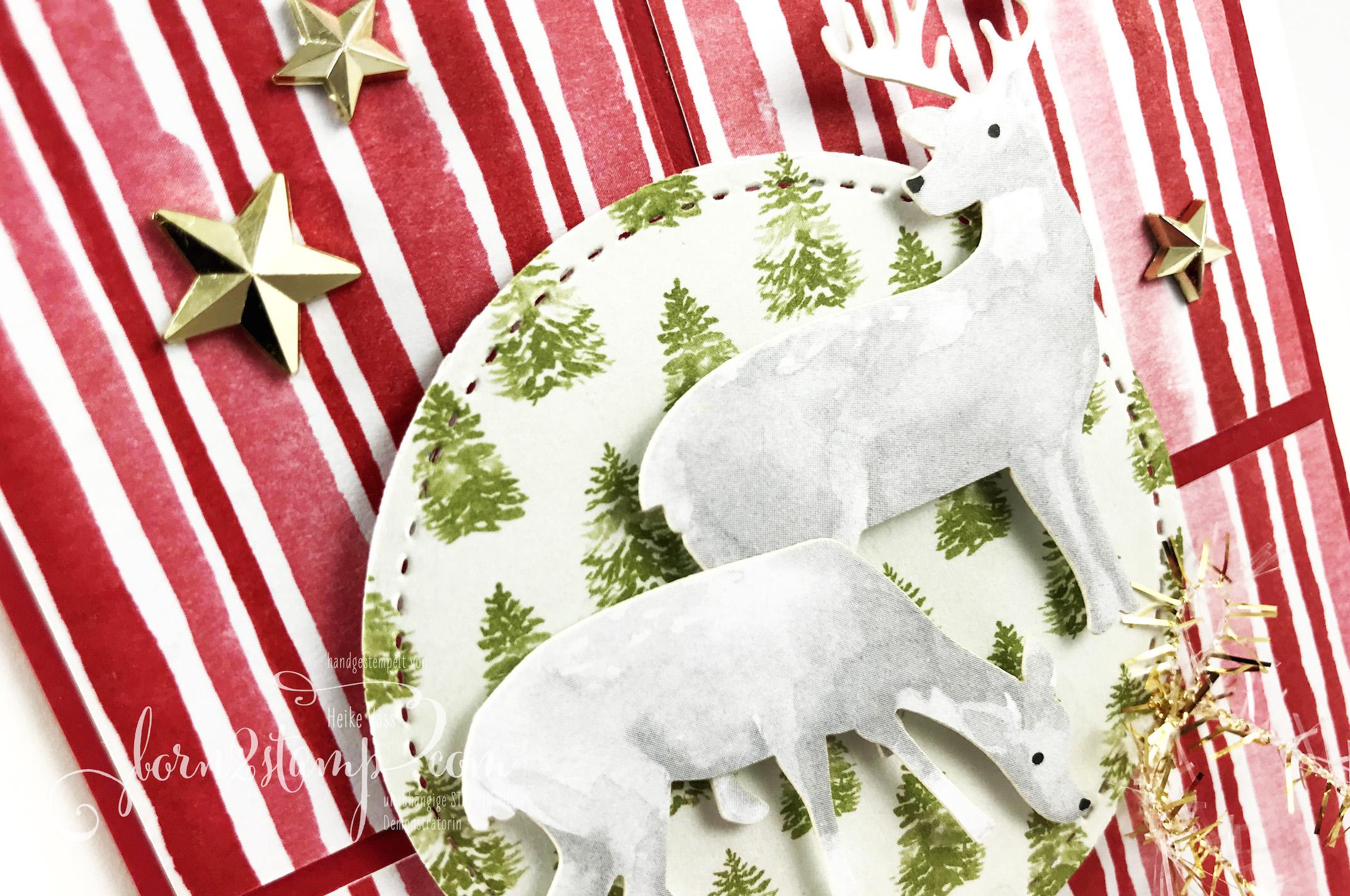 born2stamp STAMPIN UP INKSPIRE me Weihnachtskarte – Produkt Medley Zur Weihnachtszeit