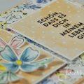 born2stamp STAMPIN' UP INKSPIRE me - DSP Von Hand gemalt - Freundschaftsblüten - Stanze Blüten und Blätter