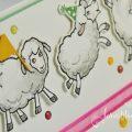 born2stamp INKSPIRE_me STAMPIN UP Geburtstagskarte - Knuddelgrüße - Stanzformen Schafe - Locker gewebtes Geschenkband
